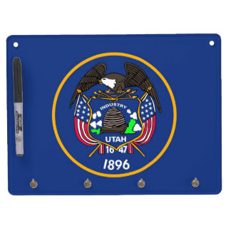 Dry Erase Board with Flag of Utah, USA