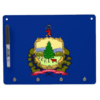 Dry Erase Board with Flag of Vermont, USA