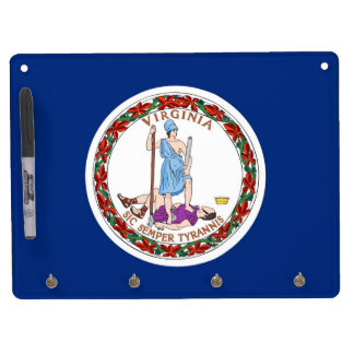 Dry Erase Board with Flag of Virginia, USA