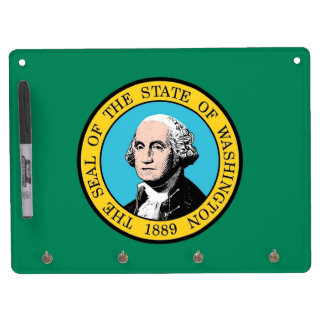 Dry Erase Board with Flag of Washington State, USA