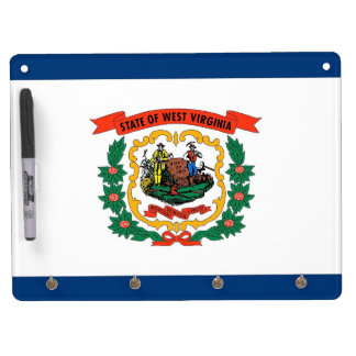 Dry Erase Board with Flag of West Virginia, USA
