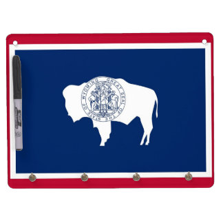 Dry Erase Board with Flag of Wyoming, USA