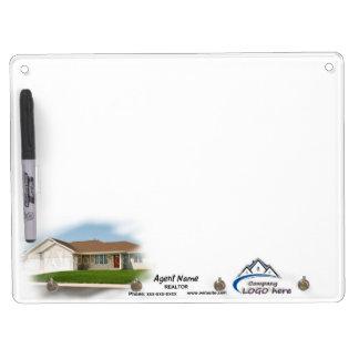 Dry Erase Board with Key Hooks - Horizontal
