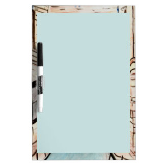 Dry Erase Board with Light Blue Writing Area