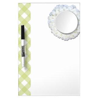 Dry-Erase Board with Mirror - White Zinnia & Latti