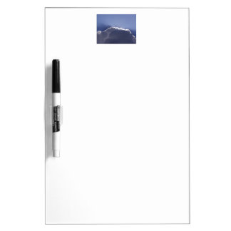 Dry erase board with pic of silver lining cloud