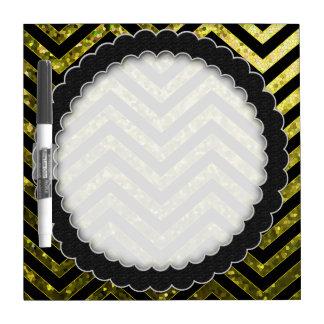 Dry Erase Board Zig Zag Sparkley Texture