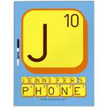 J JENNIFER'S PHONE  Dry Erase Boards
