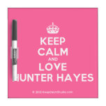 [Crown] keep calm and love hunter hayes  Dry-erase Boards