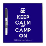 [Campervan] keep calm and camp on  Dry-erase Boards