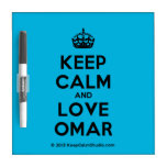 [Crown] keep calm and love omar  Dry-erase Boards