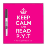 [Crown] keep calm and read p.y.t  Dry-erase Boards