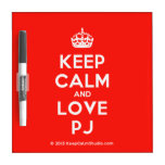 [Crown] keep calm and love pj  Dry-erase Boards