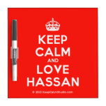 [Crown] keep calm and love hassan  Dry-erase Boards