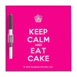 [Cupcake] keep calm and eat cake  Dry-erase Boards