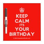 [Cupcake] keep calm its your birthday  Dry-erase Boards
