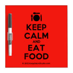 [Cutlery and plate] keep calm and eat food  Dry-erase Boards