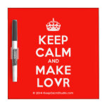 [Crown] keep calm and make lovr  Dry-erase Boards