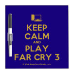 [Computer] keep calm and play far cry 3  Dry-erase Boards