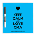 [Love heart] keep calm and love cma  Dry-erase Boards