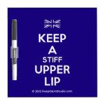 [UK Flag] keep a stiff upper lip  Dry-erase Boards