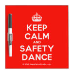[Crown] keep calm and safety dance  Dry-erase Boards