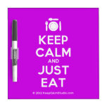 [Cutlery and plate] keep calm and just eat  Dry-erase Boards