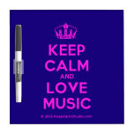[Dancing crown] keep calm and love music  Dry-erase Boards