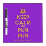 [Crown] keep calm and pun pun  Dry-erase Boards