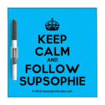 [Crown] keep calm and follow supsophie  Dry-erase Boards