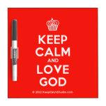 [Cupcake] keep calm and love god  Dry-erase Boards