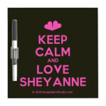 [Two hearts] keep calm and love sheyanne  Dry-erase Boards