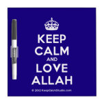 [Crown] keep calm and love allah  Dry-erase Boards