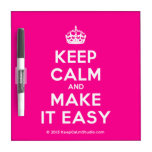 [Crown] keep calm and make it easy  Dry-erase Boards