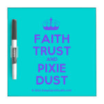 [Knitting crown] faith trust and pixie dust  Dry-erase Boards