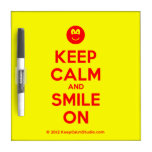 [Smile] keep calm and smile on  Dry-erase Boards
