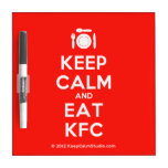 [Cutlery and plate] keep calm and eat kfc  Dry-erase Boards