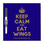 [Crown] keep calm and eat wings  Dry-erase Boards