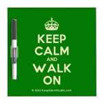 [Crown] keep calm and walk on  Dry-erase Boards