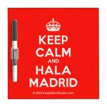 [Crown] keep calm and hala madrid  Dry-erase Boards