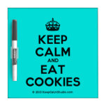 [Crown] keep calm and eat cookies  Dry-erase Boards