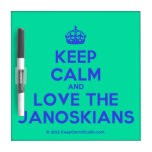 [Crown] keep calm and love the janoskians  Dry-erase Boards