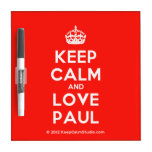 [Crown] keep calm and love paul  Dry-erase Boards