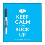 [Two hearts] keep calm and buck up  Dry-erase Boards