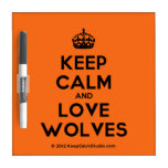 [Crown] keep calm and love wolves  Dry-erase Boards