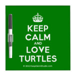 [Crown] keep calm and love turtles  Dry-erase Boards
