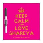 [Crown] keep calm and love shareya  Dry-erase Boards