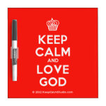 [Cupcake] keep calm and love god  Dry-erase Boards
