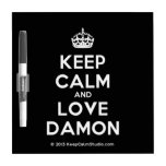 [Crown] keep calm and love damon  Dry-erase Boards