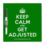 [Crown] keep calm and get adjusted  Dry-erase Boards